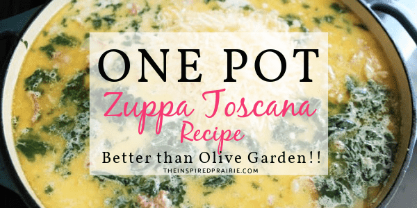 Easy One-pot Zuppa Toscana Recipe (better than Olive Garden)