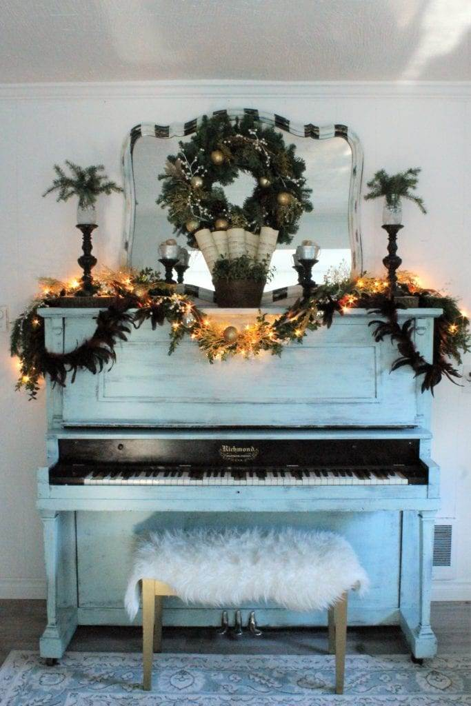 Frugal Rustic Glam Christmas Decor The Inspired Prairie