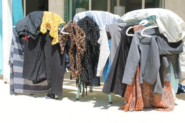 hang drying your clothes to save money