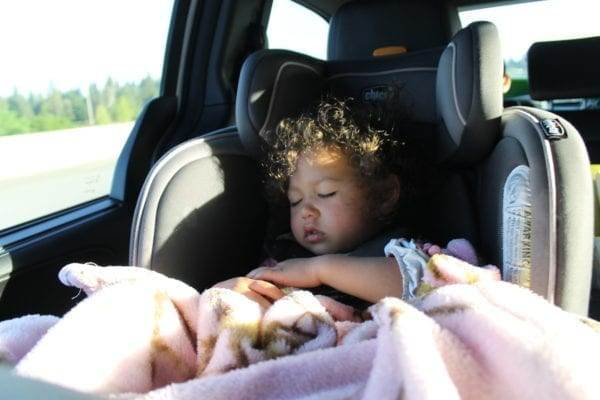 Encouraging a nap on our road trip with the kids