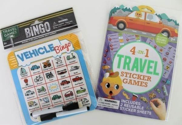 Road trip activity packs for kids from the Dollar Tree