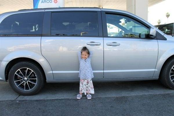 Renting a van for your road trip is one of my top tips and tricks for traveling with kids