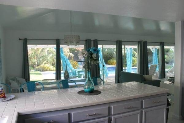 Kitchen at our Airbnb house in Palm Springs