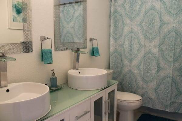 Our Airbnb house bathroom  in Palm Springs