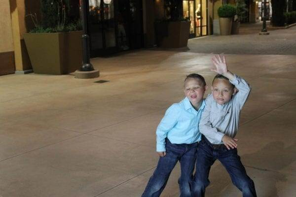 posing for a picture at the Outlet stores in Palm Springs, California