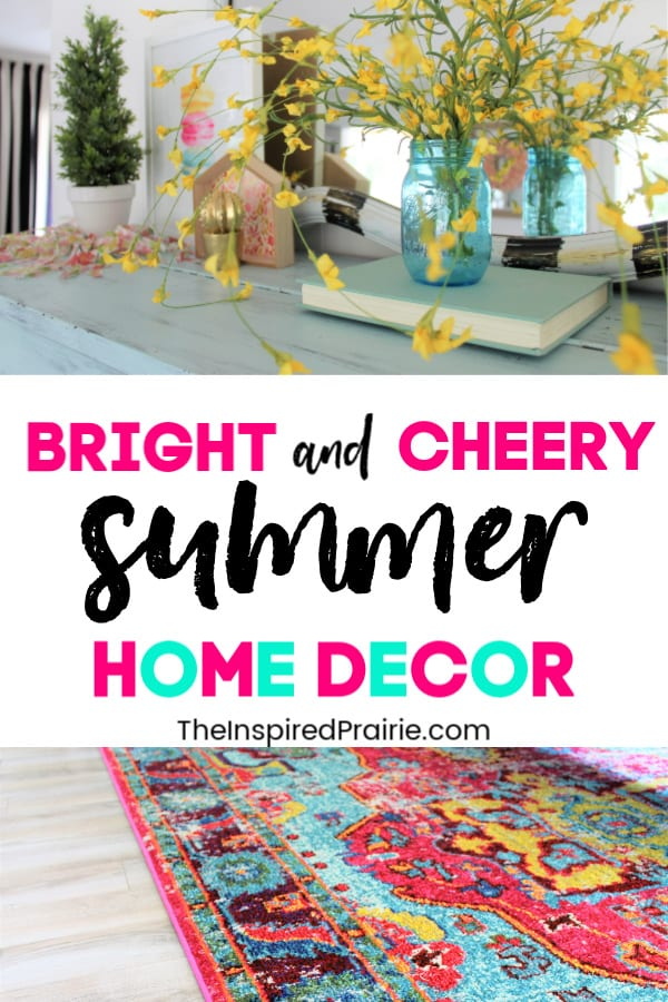 Summer Home Decor | Bright and Cheery Living Room
