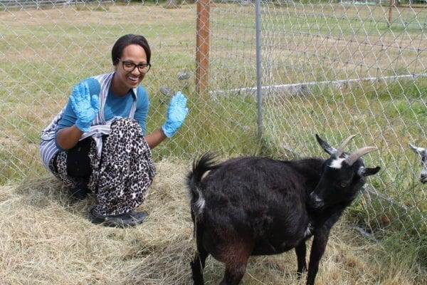 Excited for goat labor