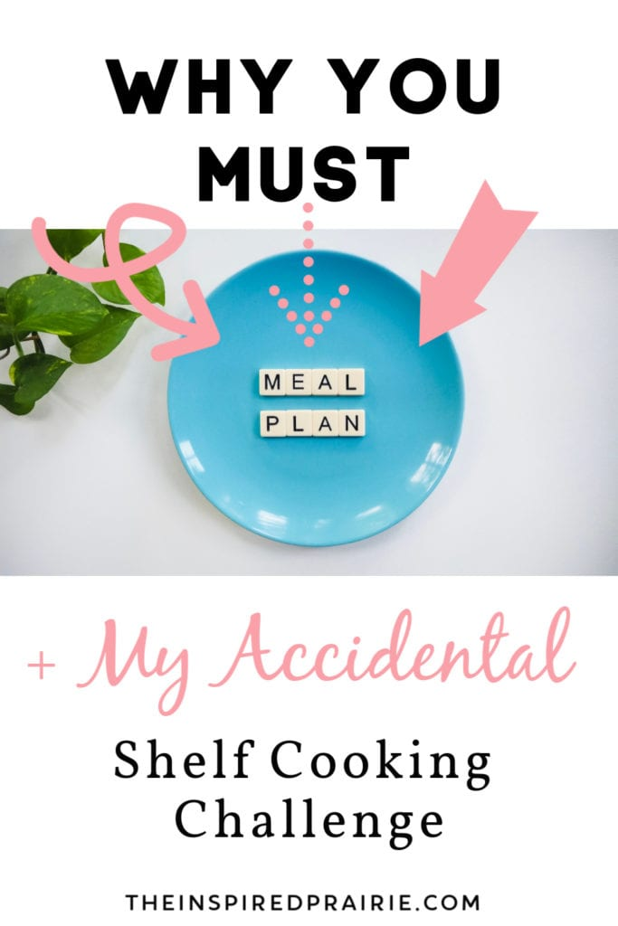 Why You MUST Meal Plan + My (Accidental) Shelf Cooking Challenge