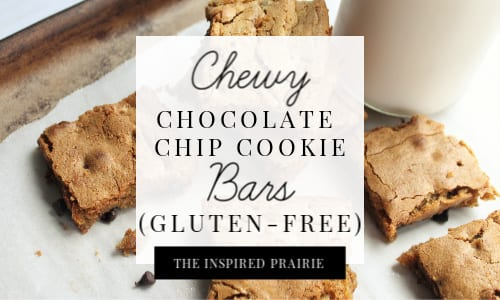 Chewy Chocolate Chip Cookie Bars (Gluten-Free)