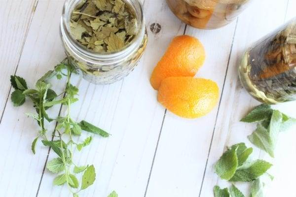 Herb and Citrus Infused Vinegar for Non-Toxic Cleaning