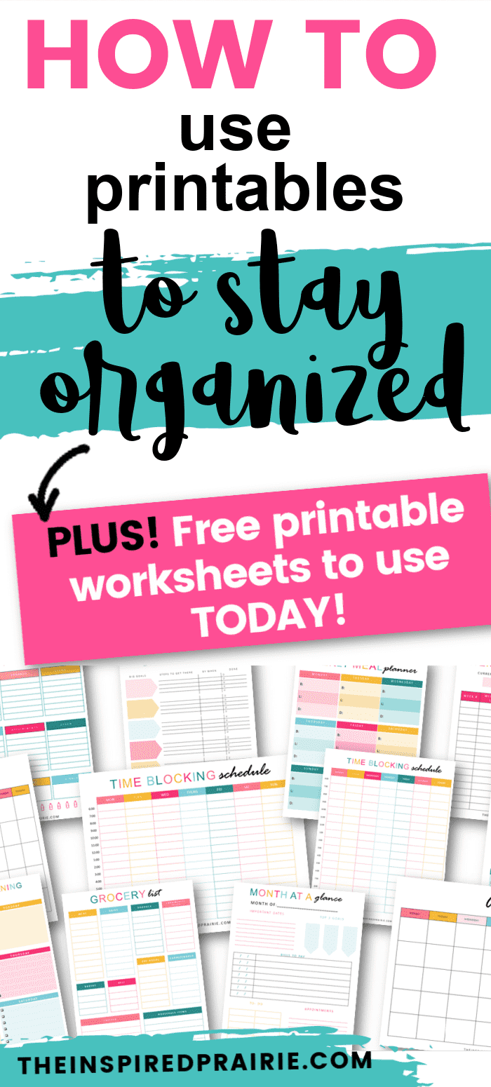 Using Printables to Help You Stay Organized. How to use printables to stay organized.