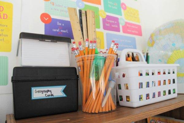 6 Easy Ways To Organize a Small Homeschool Room. Taking a really unorganized dual-purpose homeschooling room, and turning it into a more functional homeschool space in our dining room.
