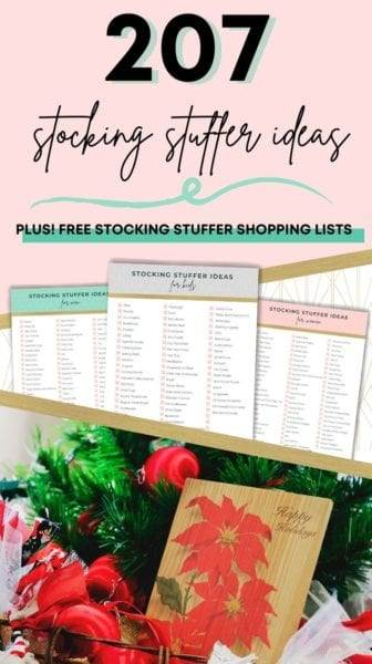 Image of the printable 207 stocking stuffer ideas for last-minute Christmas shopping