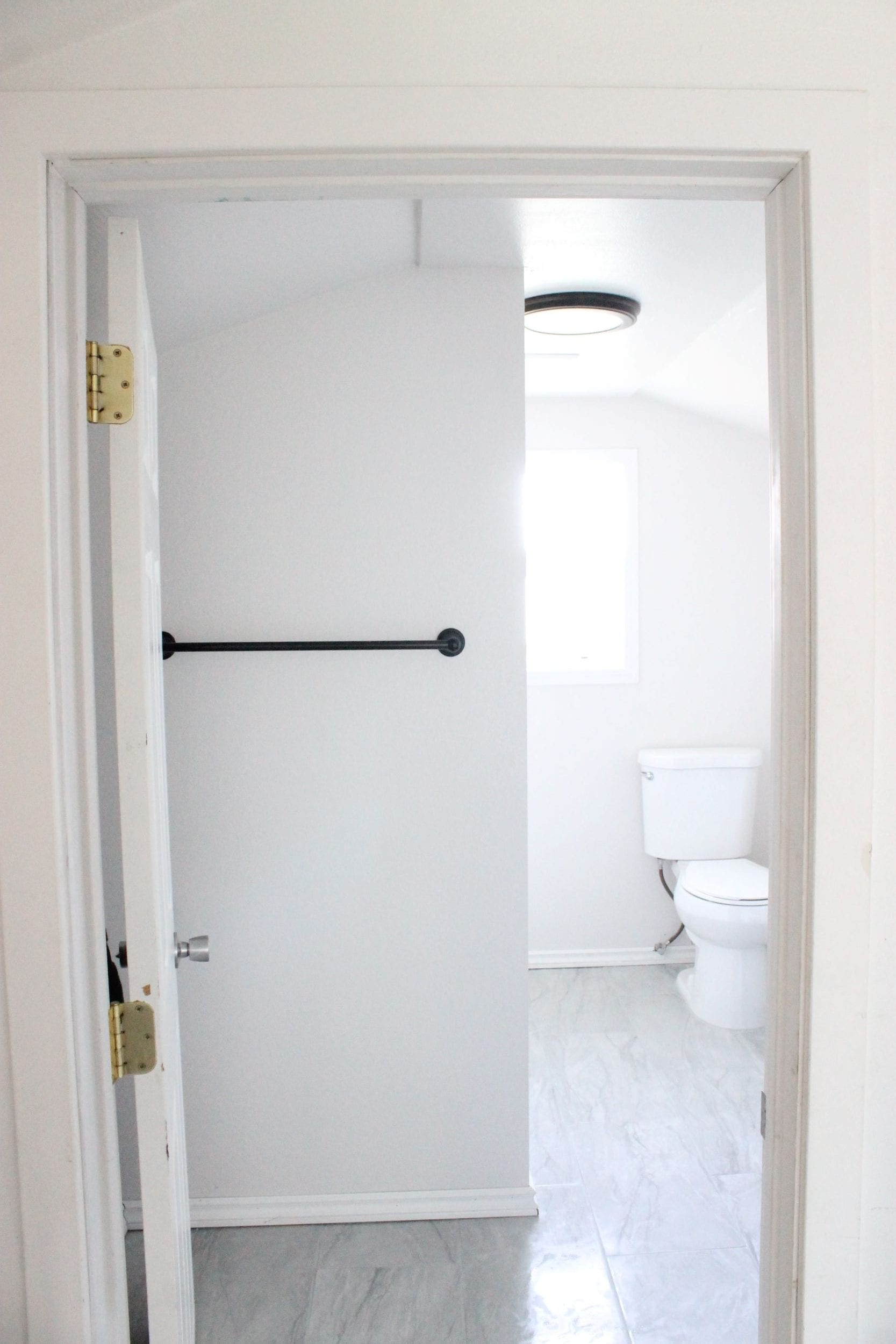 DIY Small bathroom remodel before and after