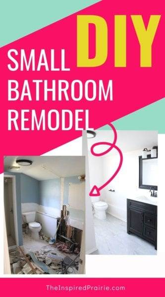 DIY Small Bathroom Remodel (Before and After)